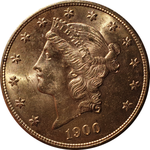 20 usd goud 1900