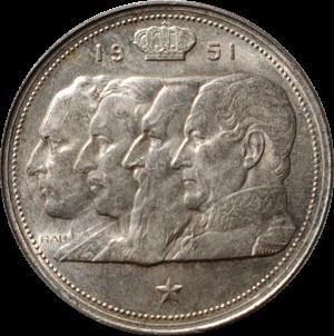 100 frank 1951 zilver 4 koningen