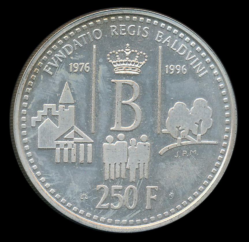 250 BEF frank zilver België