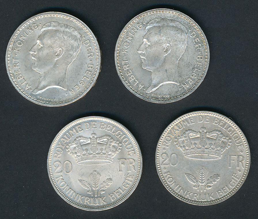 20 frank zilver leopold III