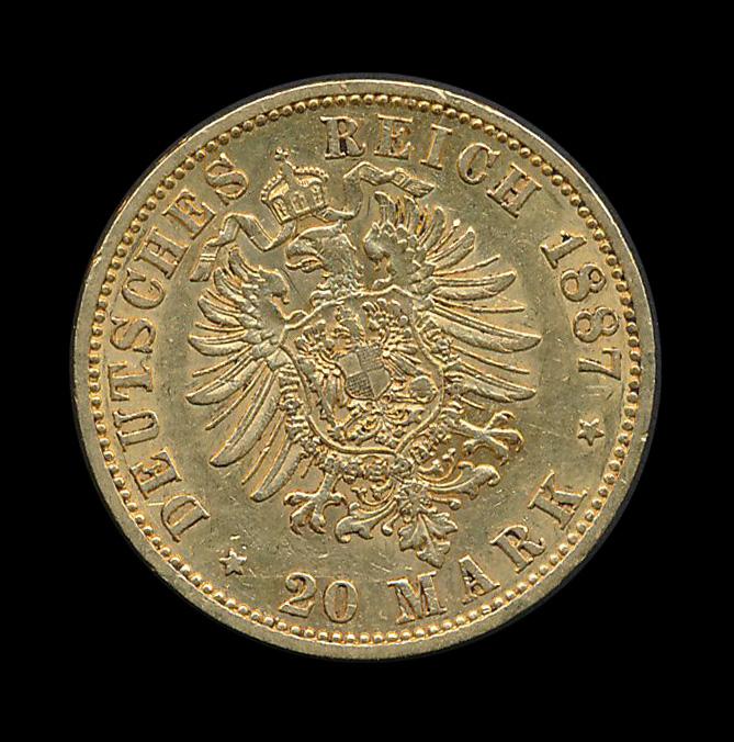 Duitsland 20 Mark 1887