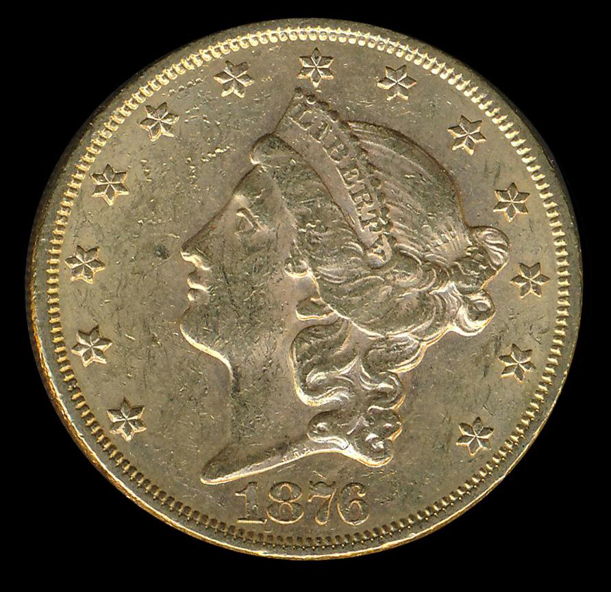 amerika goud 20 usd dollar 1876