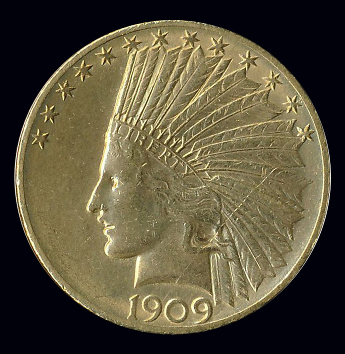 amerika goud 20 usd dollar 1909
