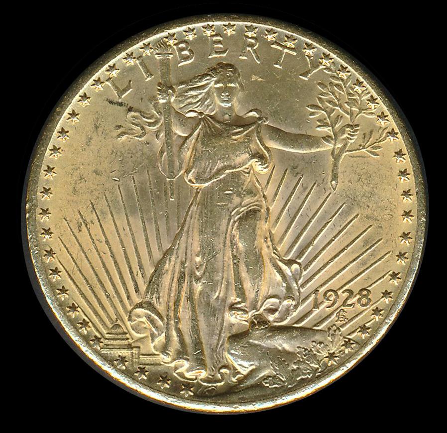 amerika goud 20 usd dollar 1928