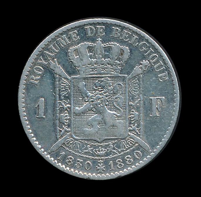 belgie 1 frank zilver 1830 1880