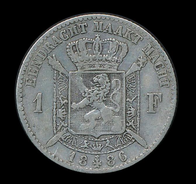 belgie 1 frank zilver 1866