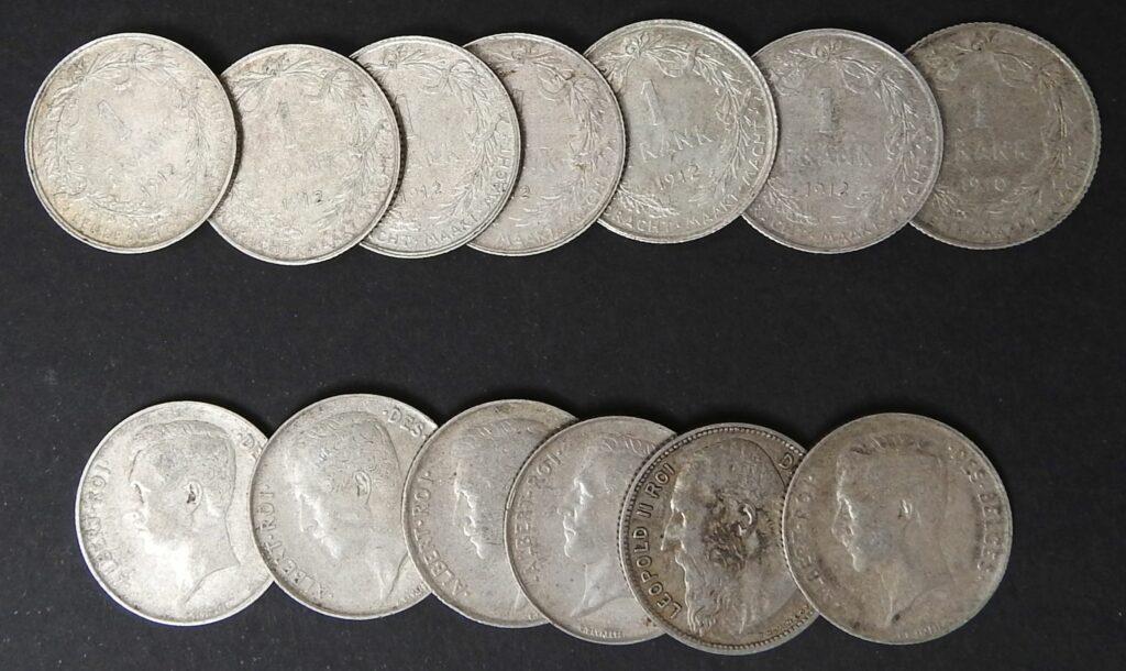 belgie 1 frank zilver albert leopold