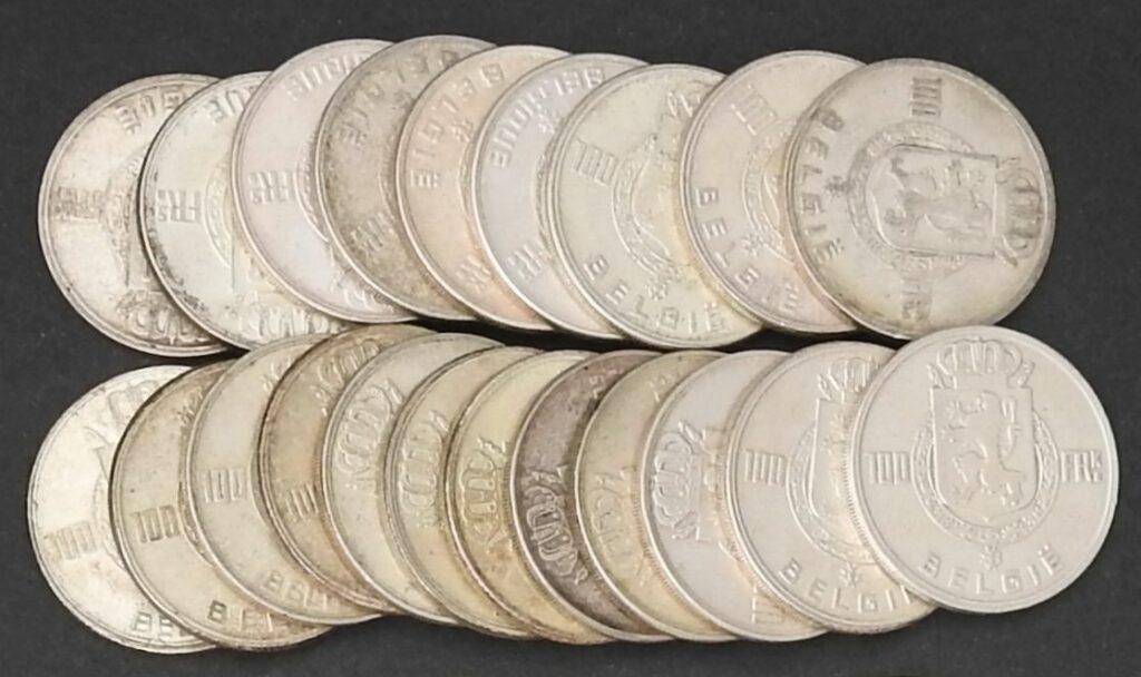belgie 100 frank zilver
