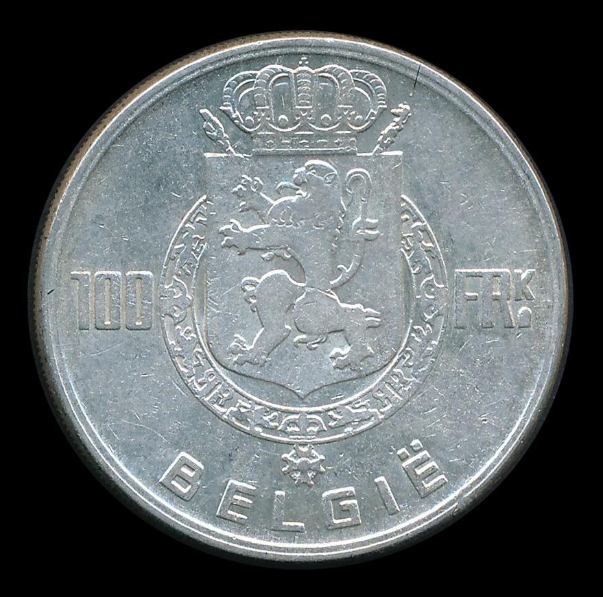 belgie 100 frank zilver belgie