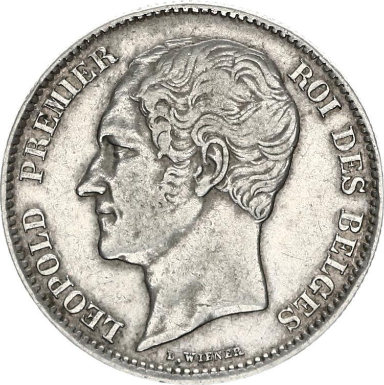belgie 2,5 frank zilver