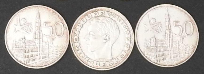 belgie 50 frank expo 1958