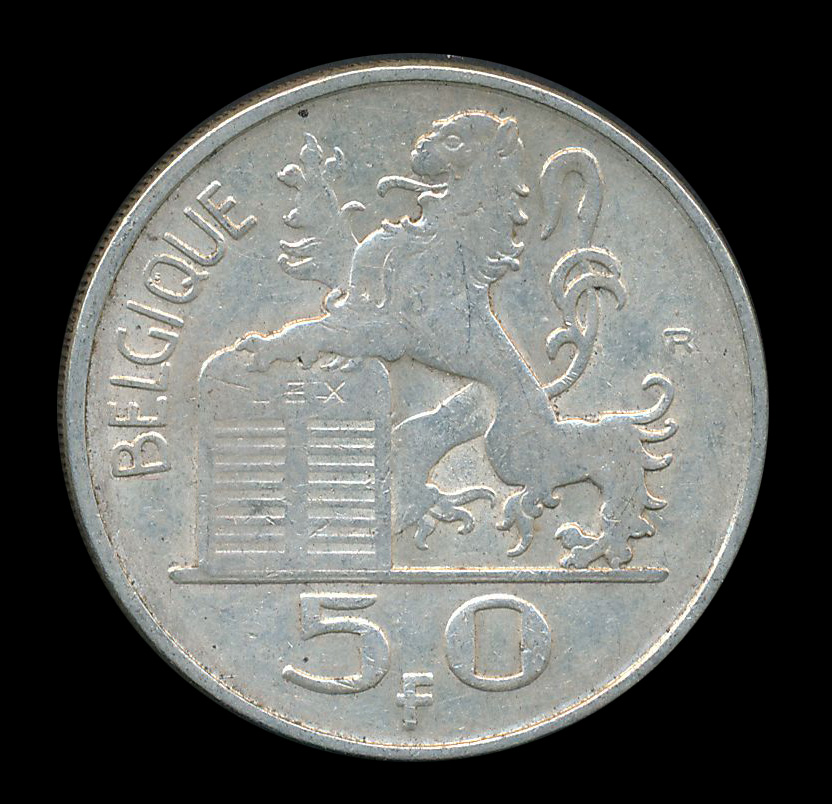 belgie 50 mercurius frank zilver belgique leeuw