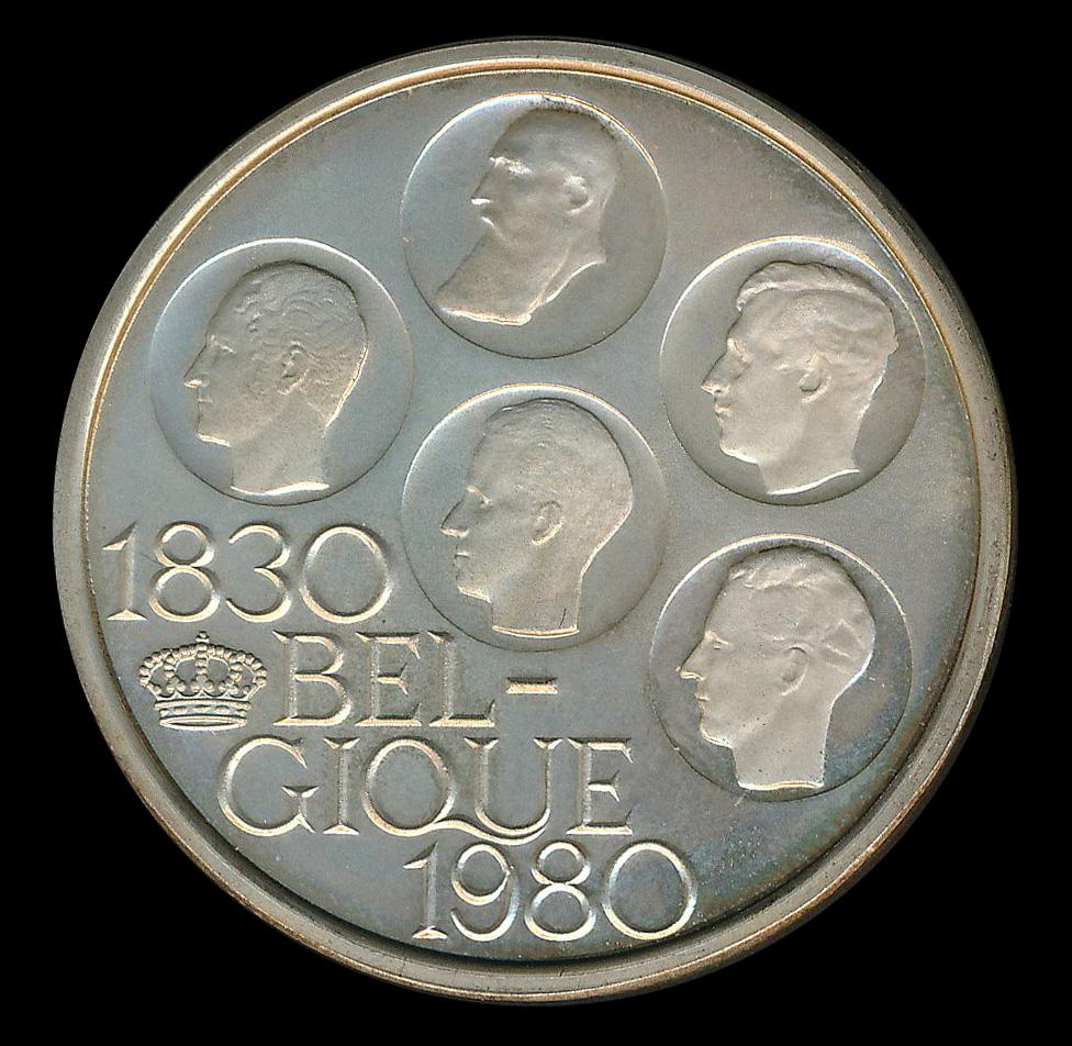 belgie 500 frank zilver 1830 1980 belgique