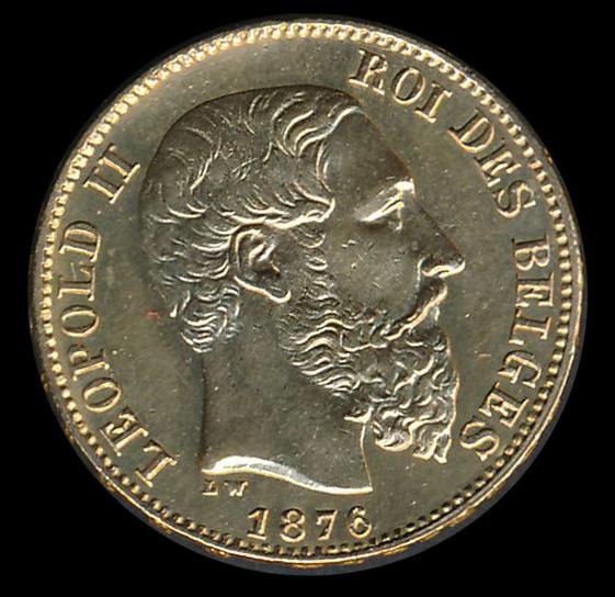 belgie goud 20 frank 1876