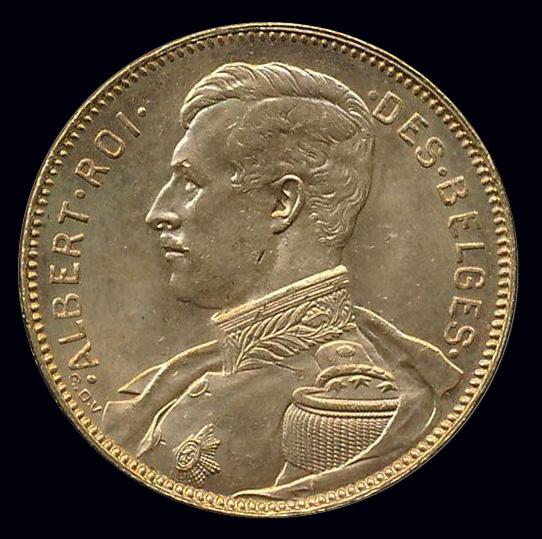 belgie goud 20 frank albert roi