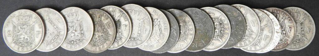 belgie zilver 2 frank