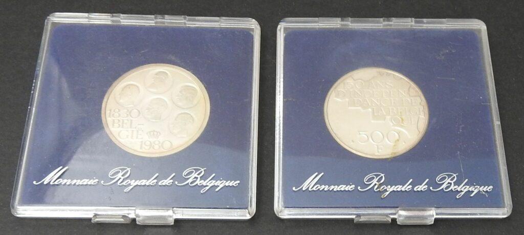 belgie 500 frank zilver