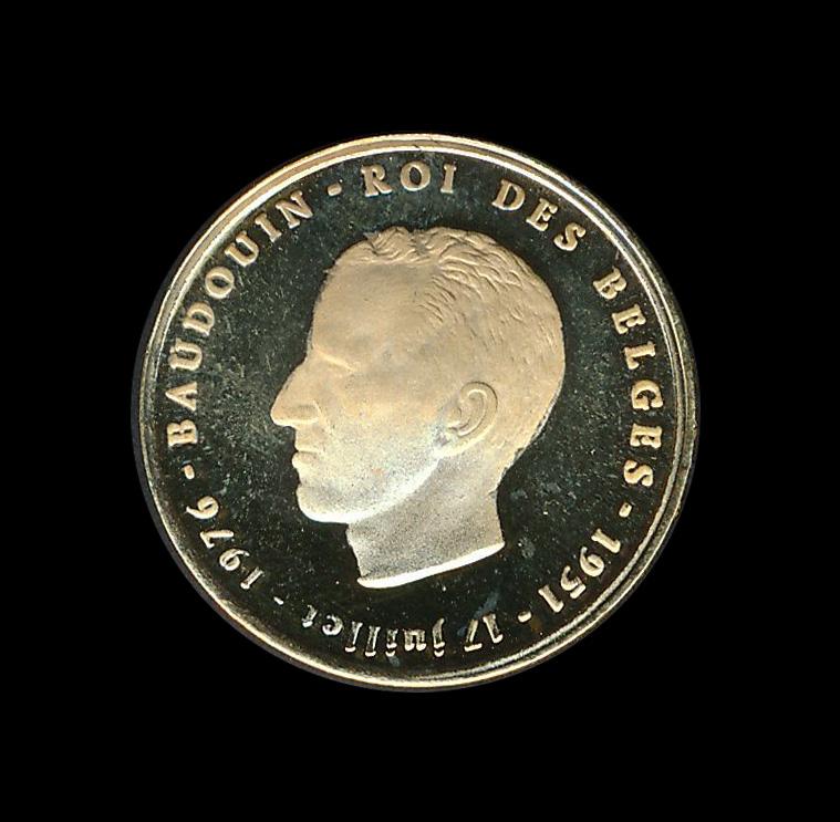 belgie goud b baudouin roi des belges 1976