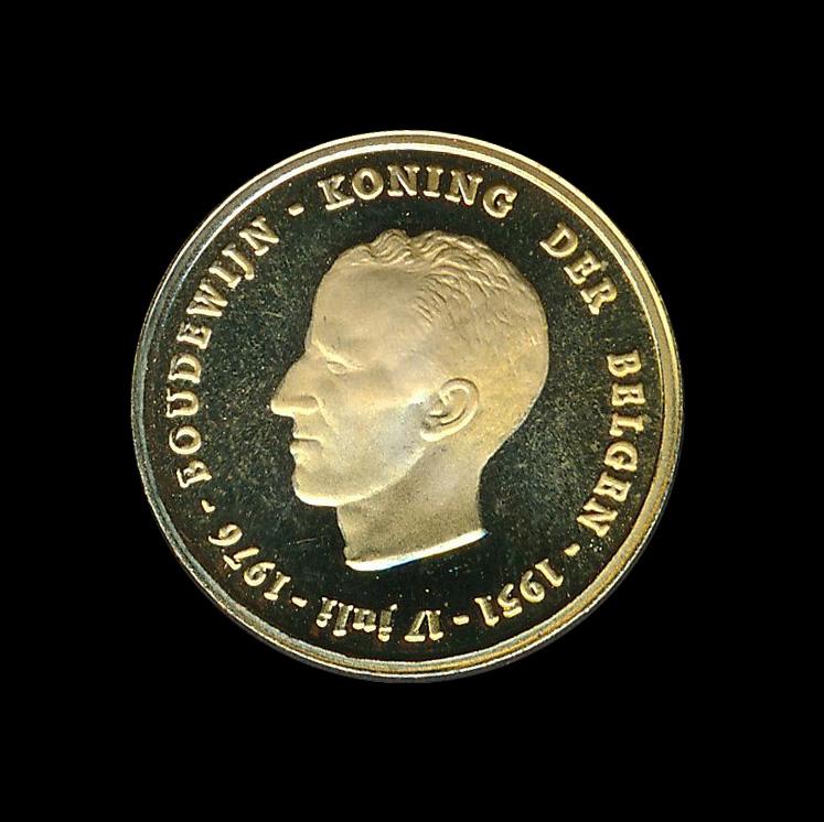 belgie goud b boudewijn koning der belgen 1976