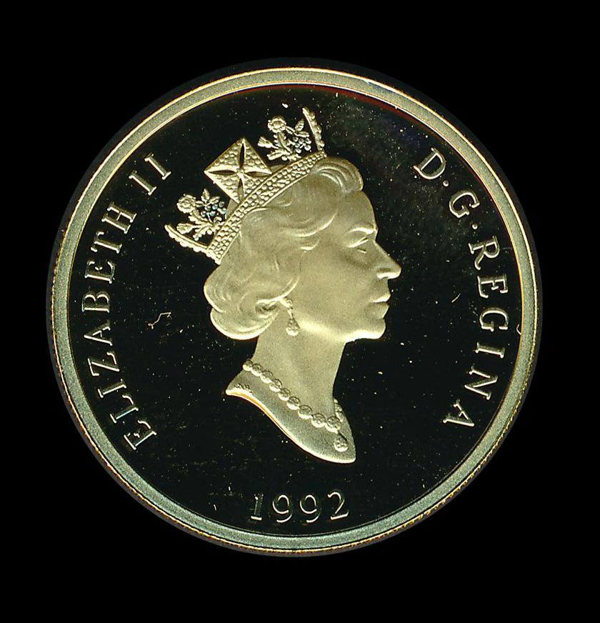Canada goud Engeland Elisabeth II 1992