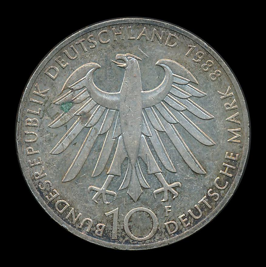 duitsland 10 mark zilver 1988