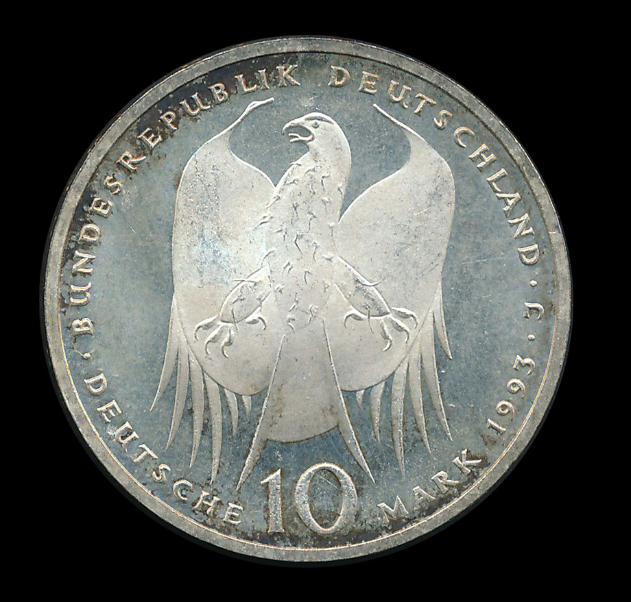 duitsland 10 mark zilver 1993