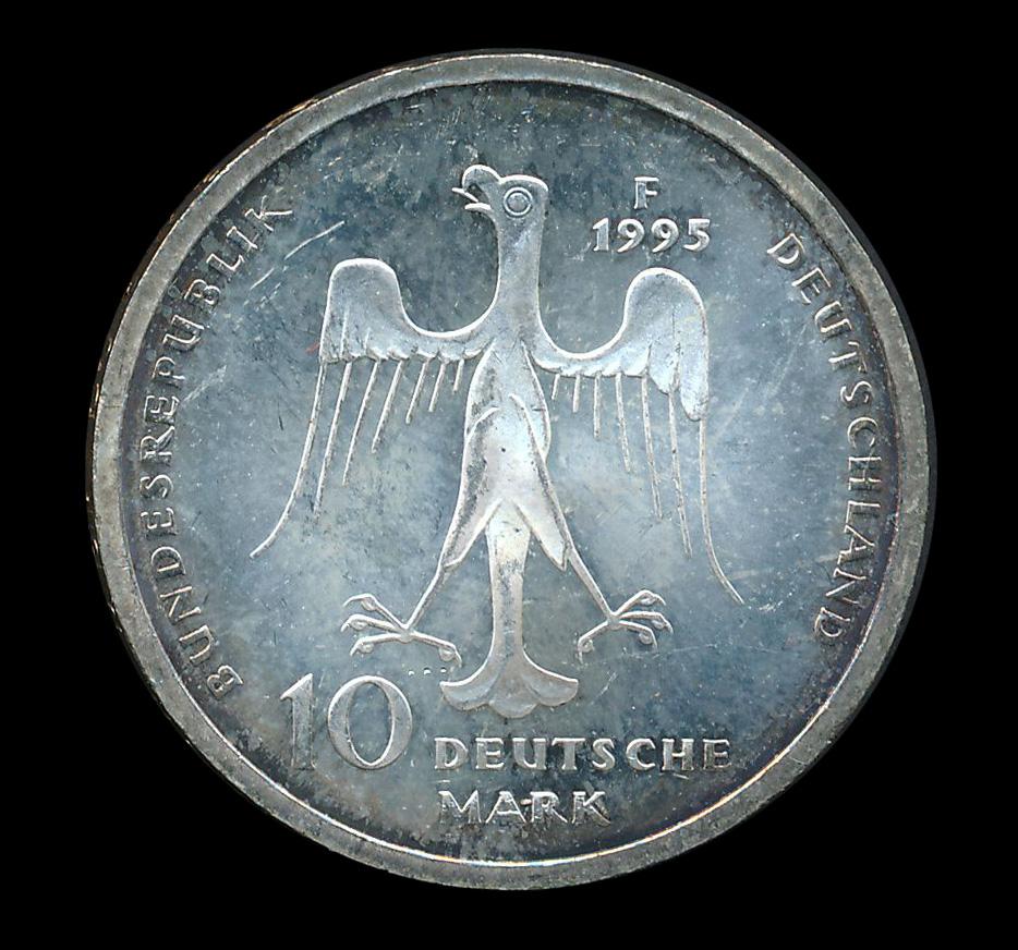 duitsland 10 mark zilver 1995