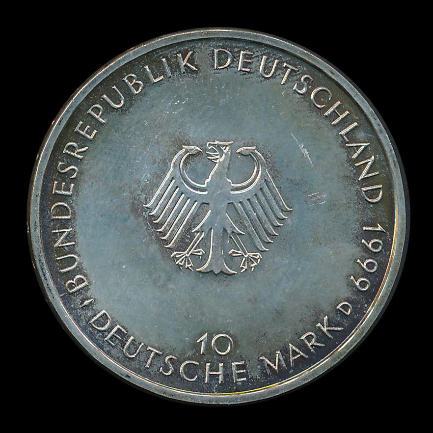 duitsland 10 mark zilver 1999