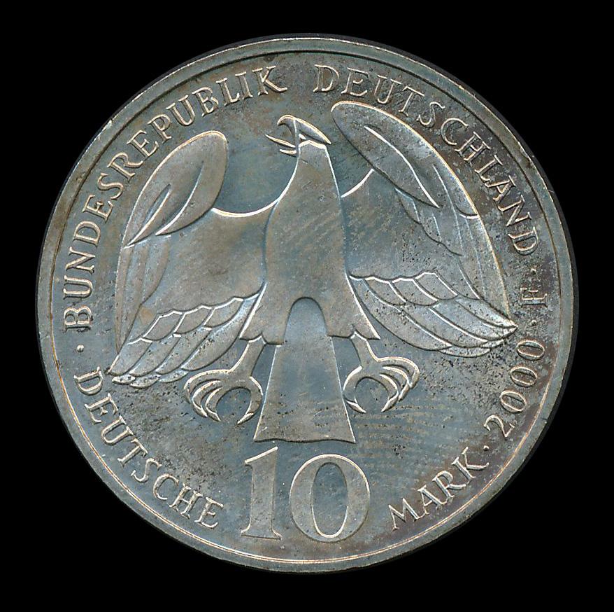 duitsland 10 mark zilver 2000
