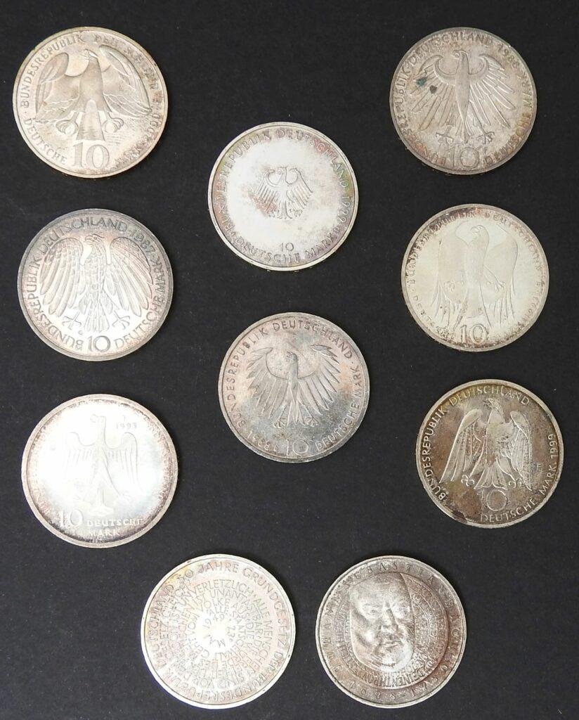 duitsland 10 mark zilver