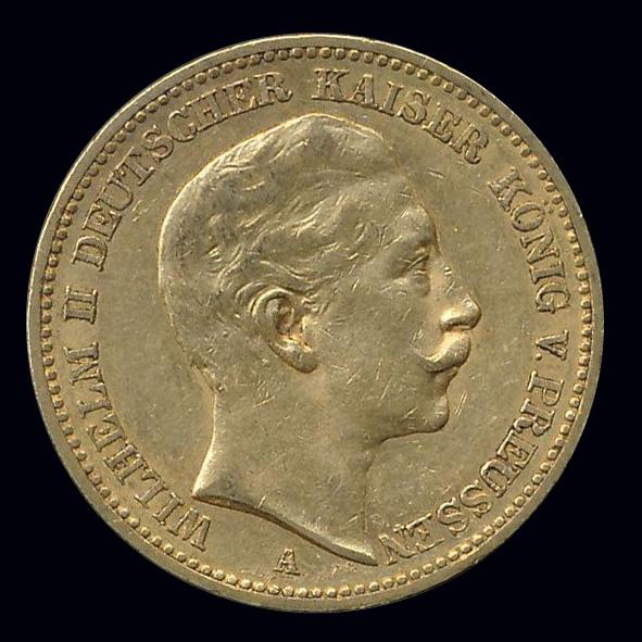 duitsland goud mark wilhelmII kaiser konig