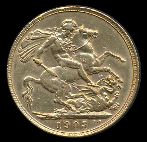 engeland goud pound 1903