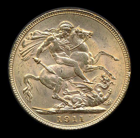 engeland goud pound 1911