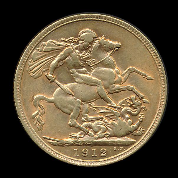 engeland goud pound 1912