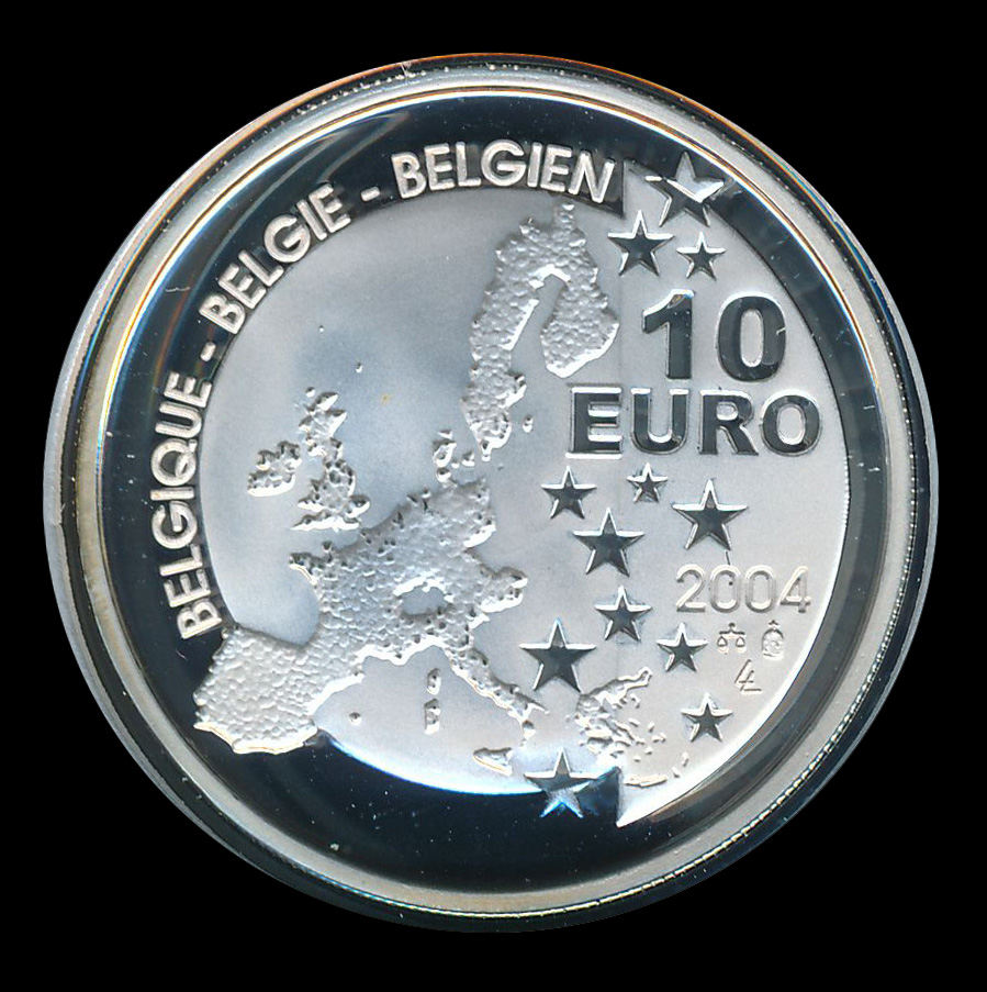 euro ecu 10 zilver belgie 2004