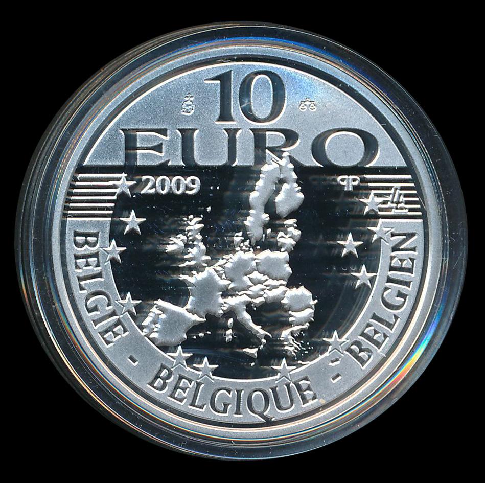 euro ecu 10 zilver belgie 2009