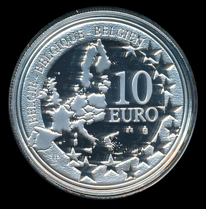 euro ecu 10 zilver belgie