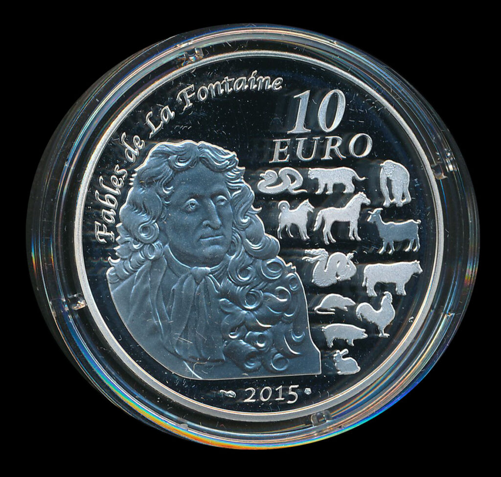 euro ecu 10 zilver fables de la fontaine 2015