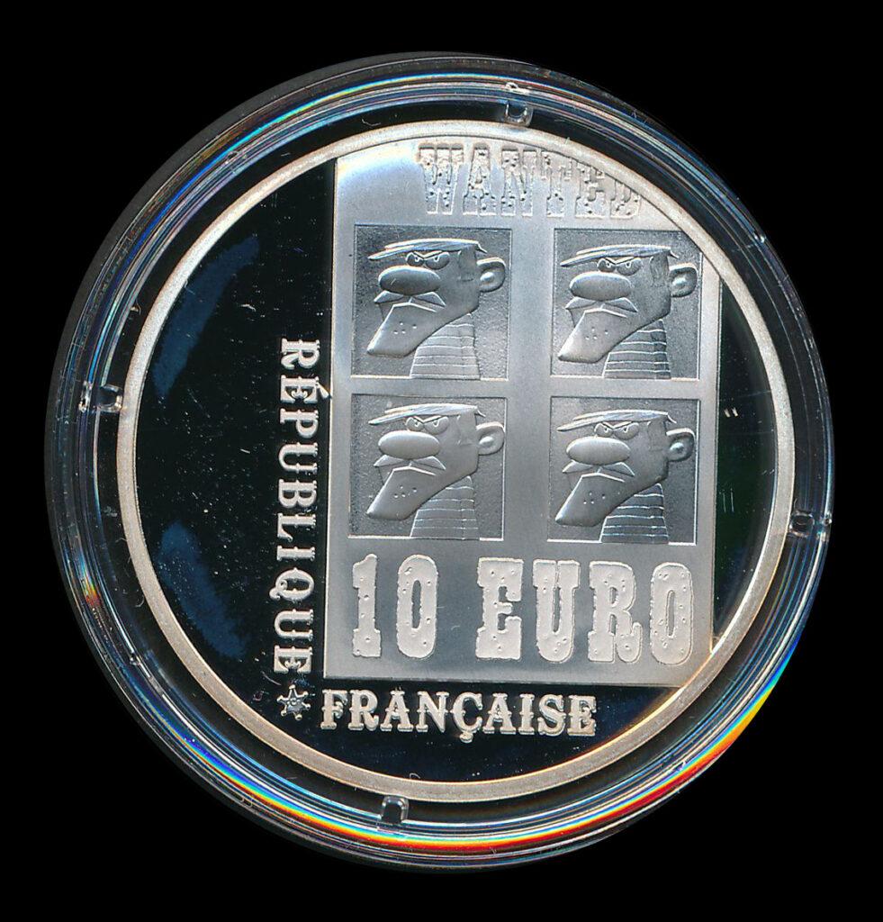 euro ecu 10 zilver république française daltons wanted