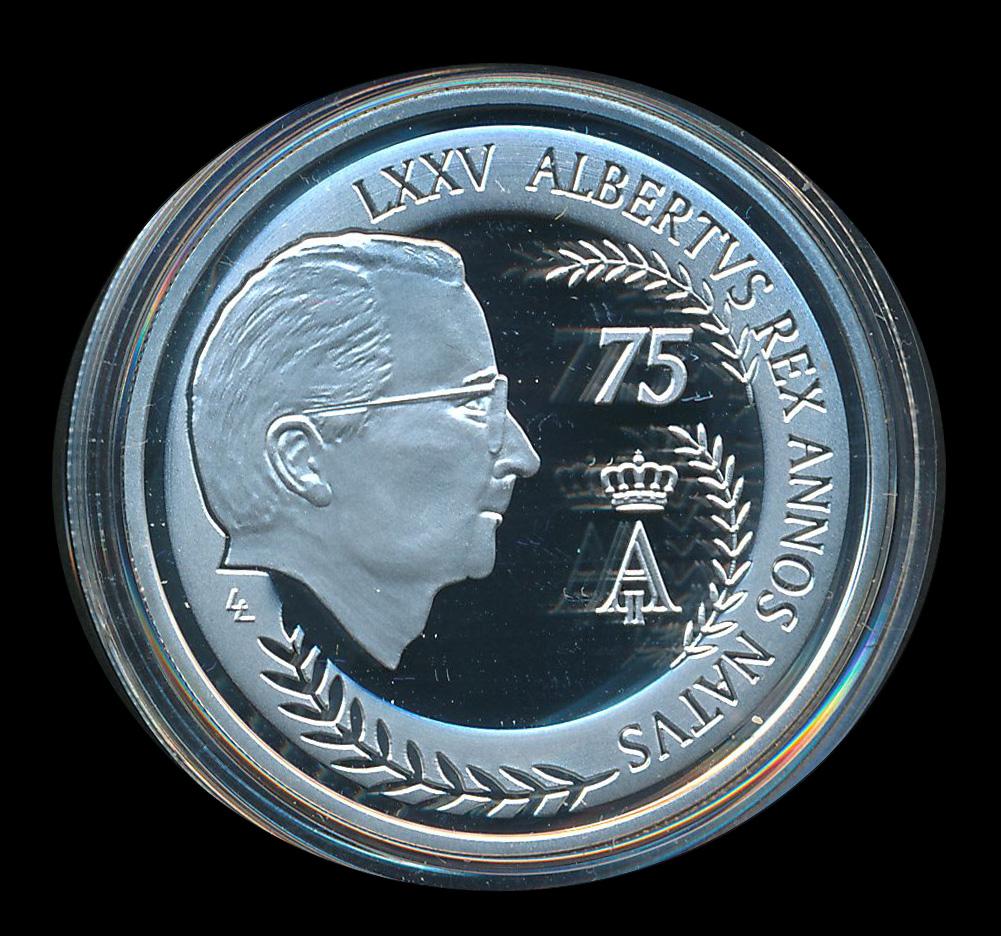 euro ecu zilver LXXV albertus rex annosnatus
