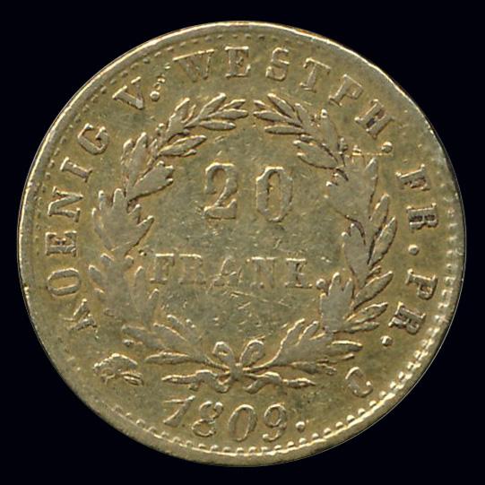 frankrijk goud 20 franc 1809