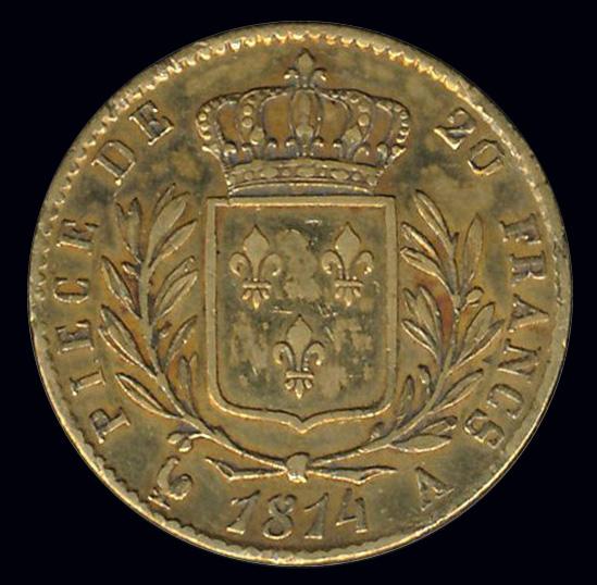 frankrijk goud 20 franc 1814