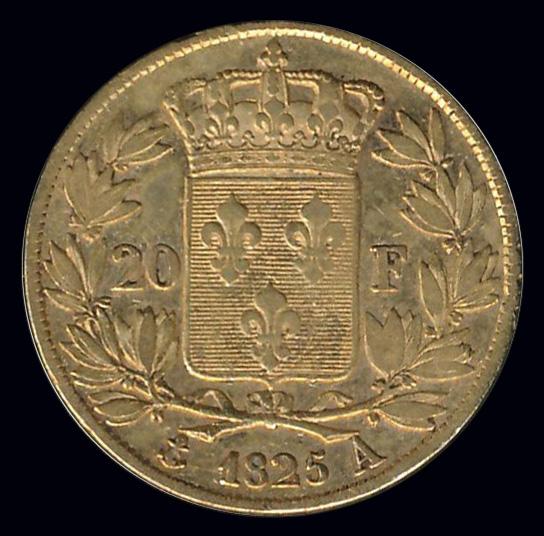 frankrijk goud 20 franc 1825