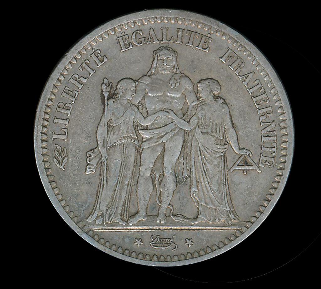 frankrijk zilver franc 5 LEF
