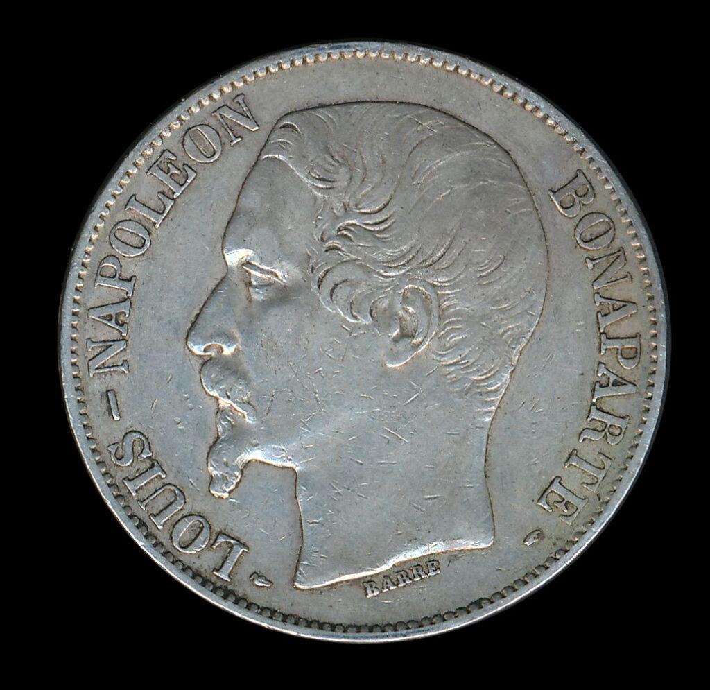 frankrijk zilver franc 5 louis napoleon