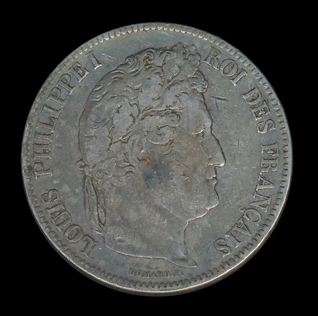 frankrijk zilver franc 5 louis philippeI
