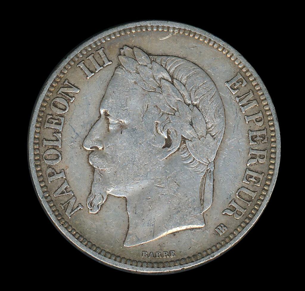 frankrijk zilver franc 5 napoleon III