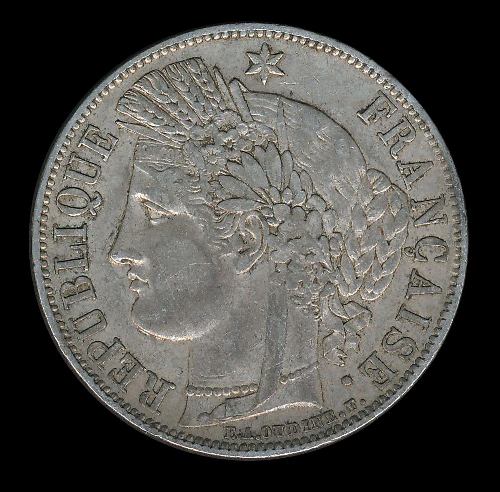 frankrijk zilver franc 5 republique francaise