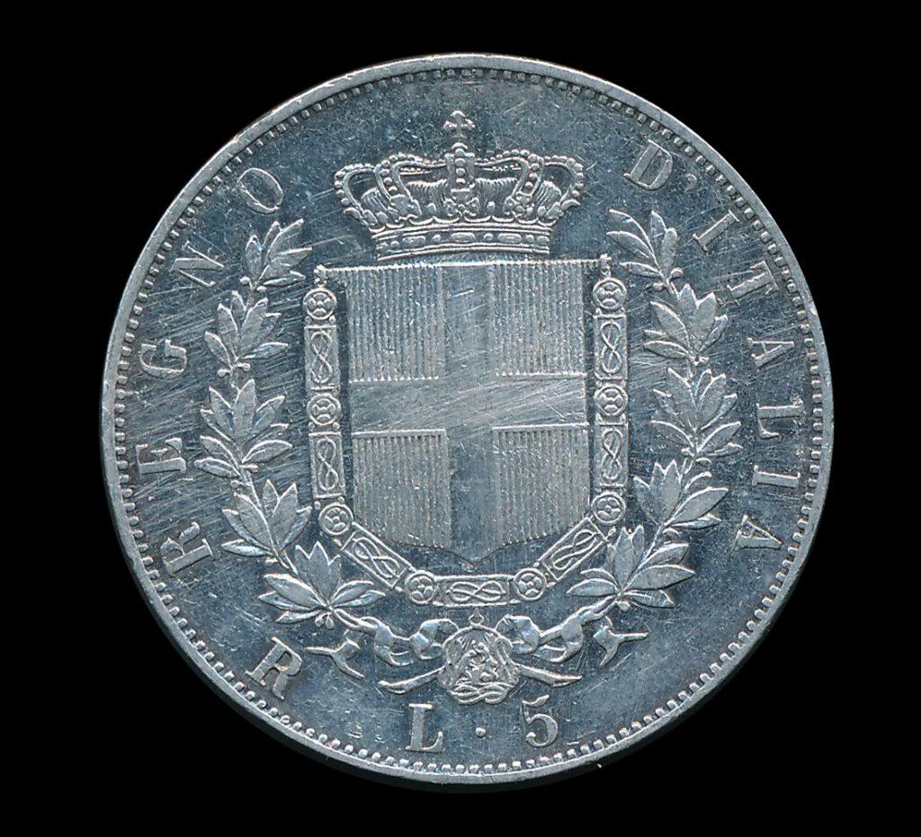 italie 5 lire zilver