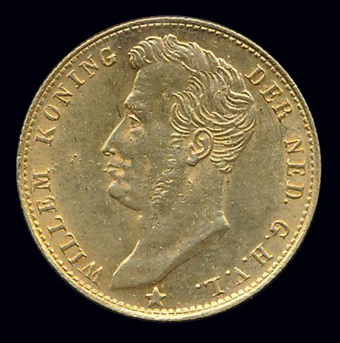 nederland goud gulden front willem